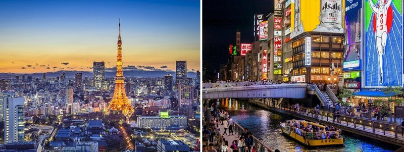 tokyo and osaka