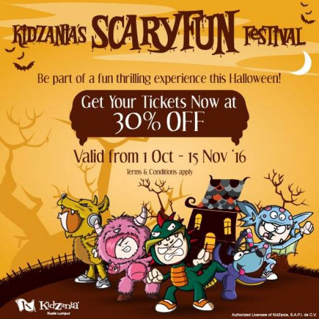 Enjoy 30% off on Admission Tickets for Kidzania Kuala Lumpur Scaryfun Festival