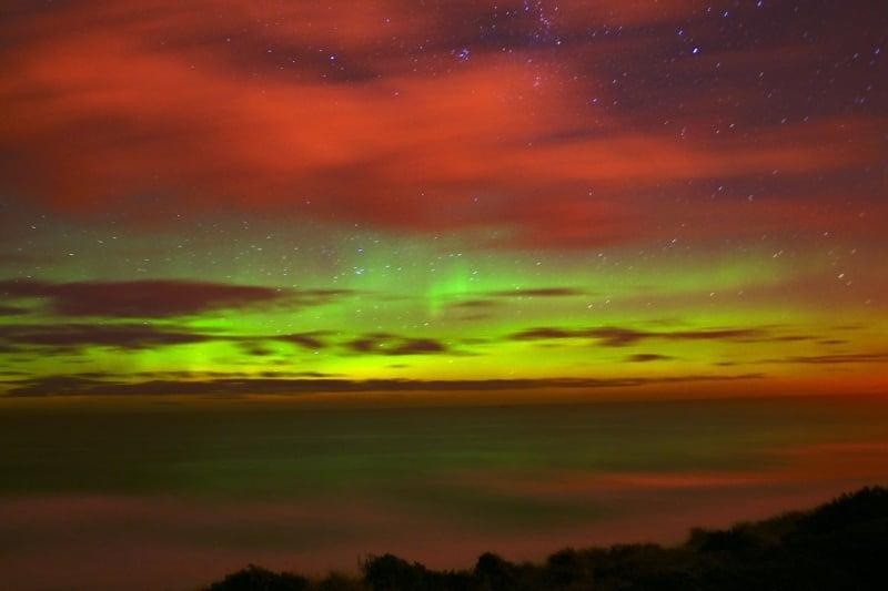 australia new zealand southern lights