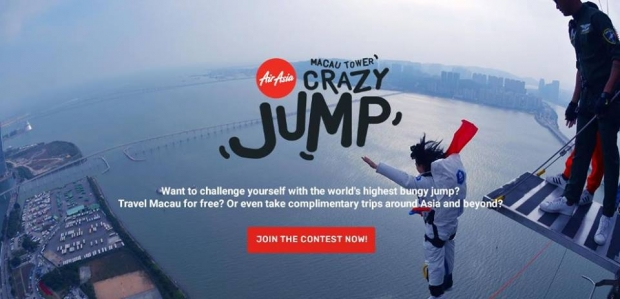 Get to Fly to Macau and Complete the Bungy Jump Challenge for Free with AirAsia