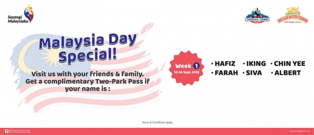 Malaysia Day Special in Puteri Harbour