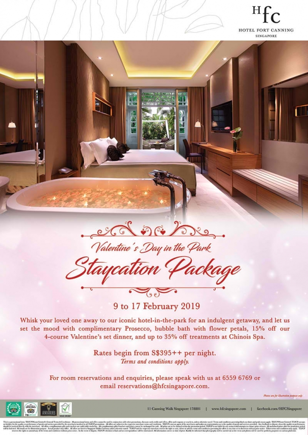 Valentine's Day at the Park Staycation Package at Hotel Fort Canning