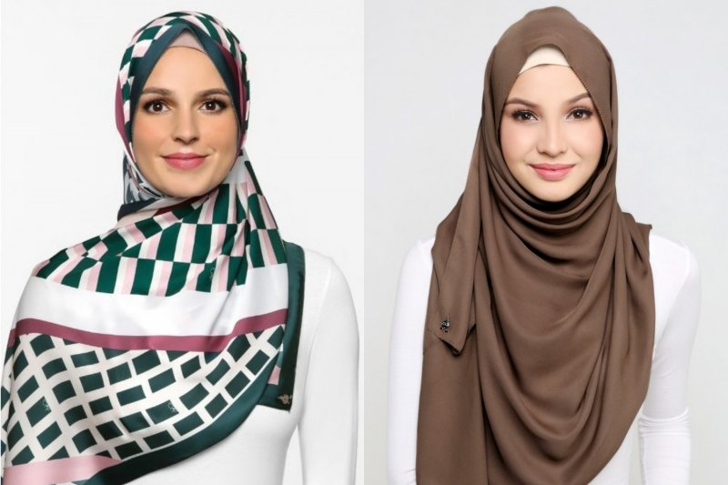 Hijab styles dUCk scarves