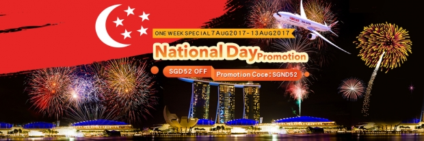 National Day Promotion in China Eastern Airlines with SGD52 Off