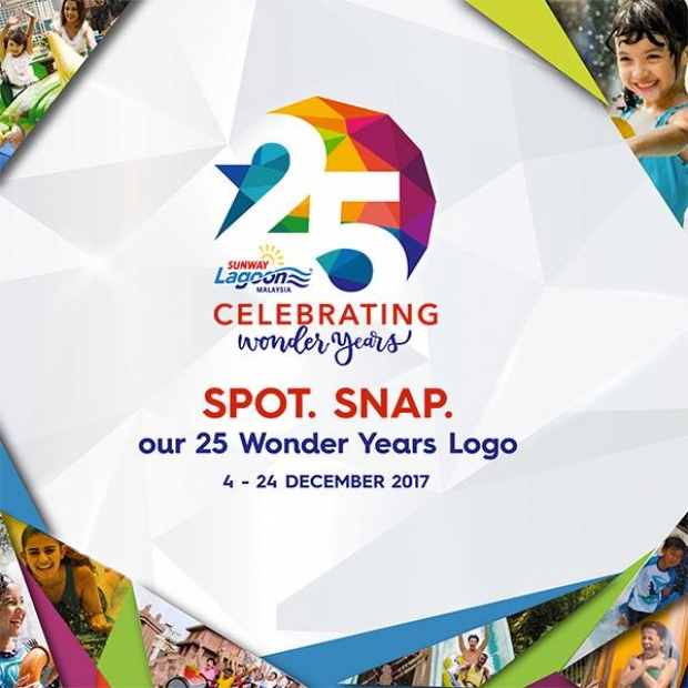 Spot 25 Wonder Years Logo of Sunway Lagoon and WIN Exciting Prizes