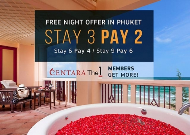 Stay 3 Night, Pay Only 2 at Centara Grand Beach Resort Phuket