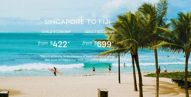 Singapore to Nadi Flights with Fiji Airways from SGD699