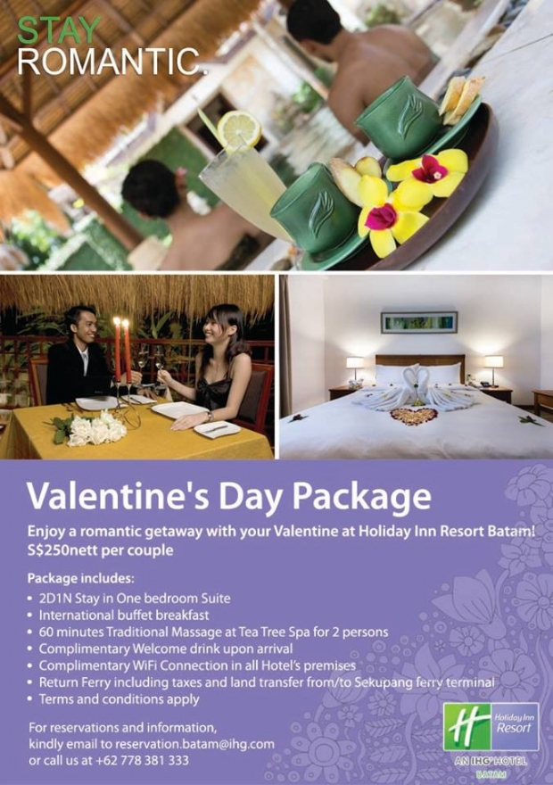 Stay Romantic this Valentines in Holiday Inn Resort Batam