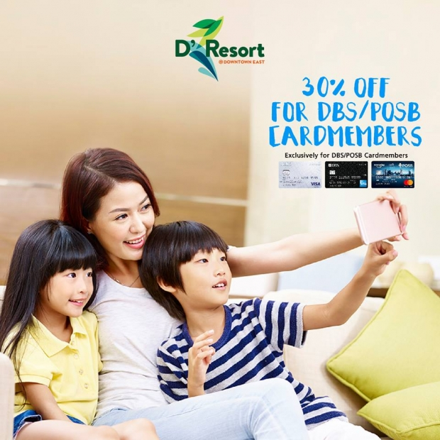 30% Off Room Rate in D'Resort @ Downtown East Exclusive for DBS/POSB Cardholders