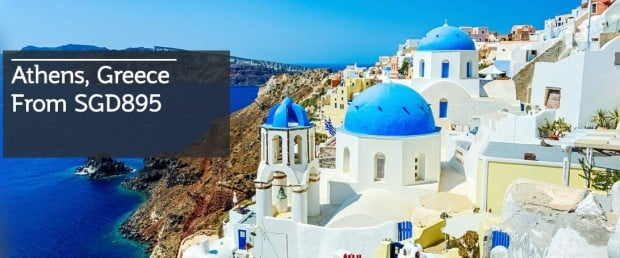 Fly to Athens and more Destinations with Qatar Airways from SGD895