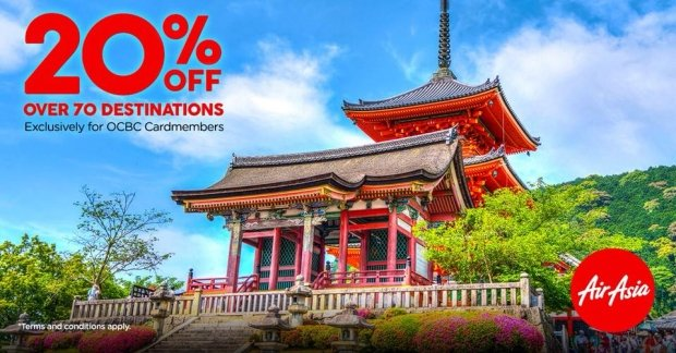 Enjoy 20% Savings on your Flights with AirAsia and OCBC Card