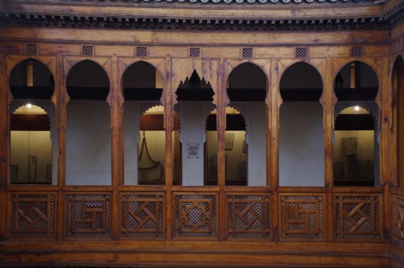 nejjarine museum wooden pillars