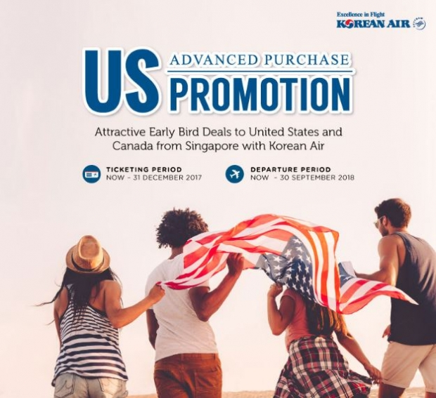 Advance Purchase Deal to USA with Korean Air from SGD1,385