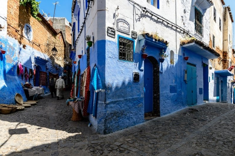 chefchaouen blue painted walls