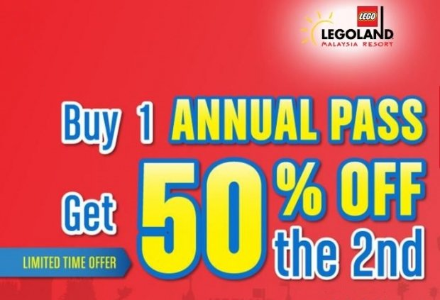 Buy 1 Annual Pass, Get 50% Off the 2nd for Legoland Malaysia Admissions