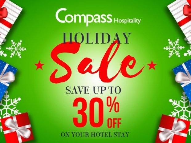 Compass Hospitality Holiday Sale with Up to 30% Savings