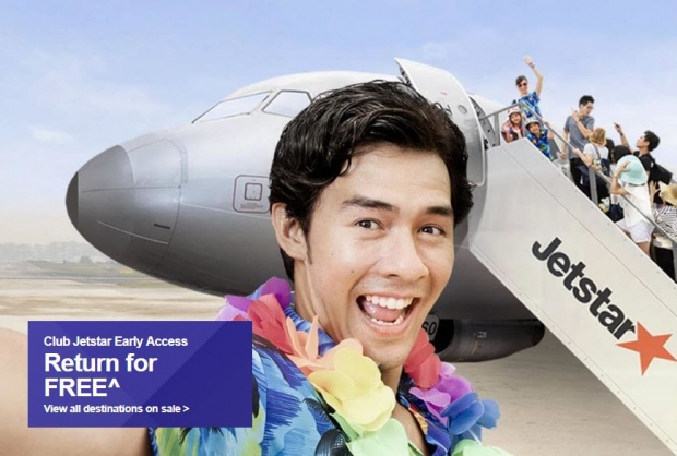 Club Jetstar Deal - Return for Free^ on your Next Trip