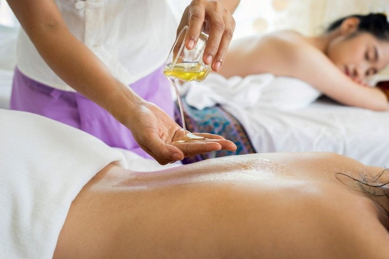 woman enjoying massage