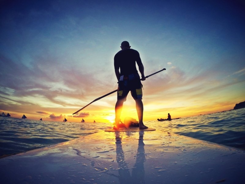 things to do in boracay: paddleboarding