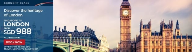 Discover the Heritage of London from SGD988 with Malaysia Airlines