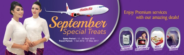 September Special Treats from SGD50 with Malindo Air