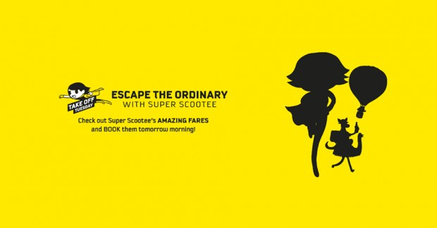 Escape the Ordinary and Scoot from SGD45 this Tuesday