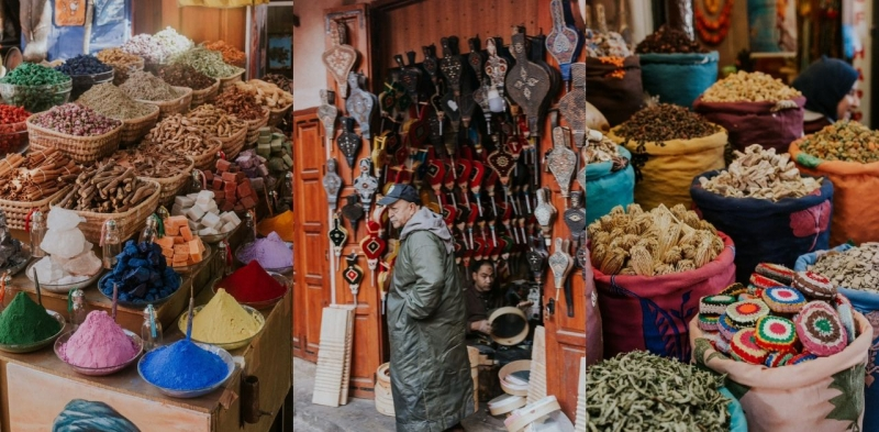 marrakech medina souk spices