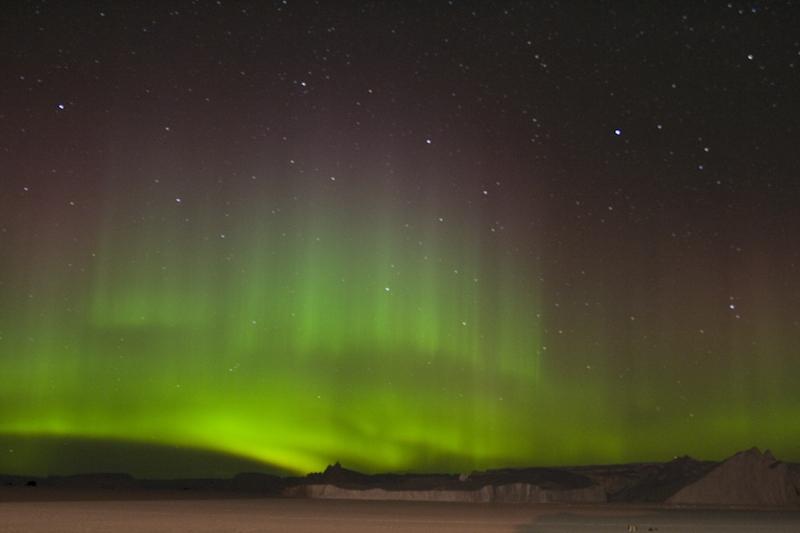 Antarctica southern lights