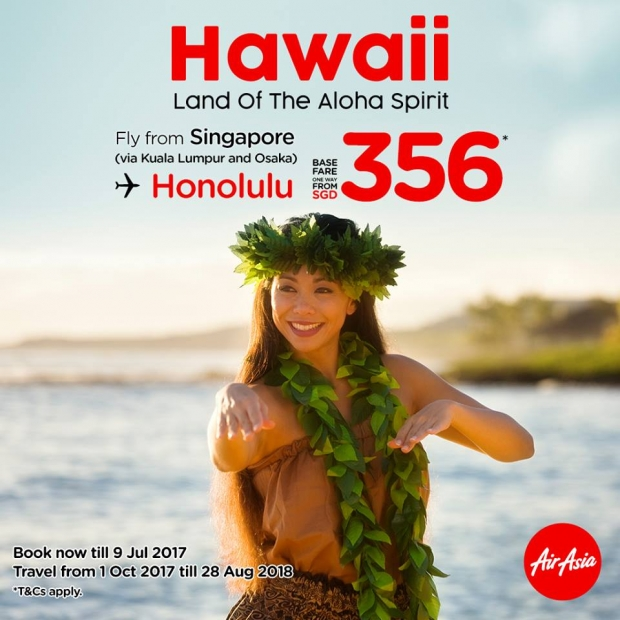 Fly to Hawaii with AirAsia from SGD356