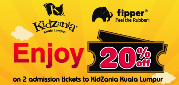 Enjoy 20% Off Admission Ticket to KidZania Kuala Lumpur with Flipper