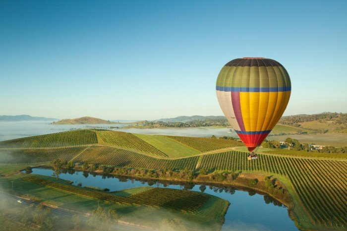 yarra valley hot air balloon