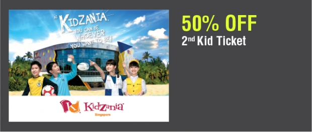 Enjoy 50% Off 2nd Ticket to KidZania SIngapore with NTUC Card