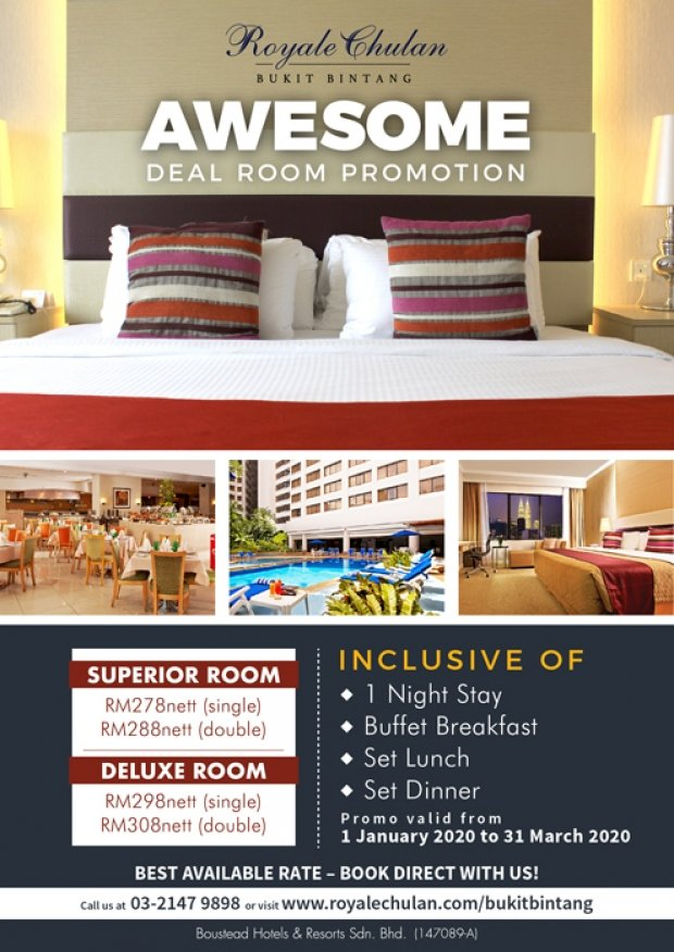 Awesome Room Deal Promotion at Royale Chulan Bukit Bintang