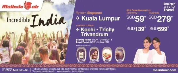 Discover Incredible India with Malindo Air from SGD59