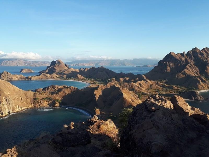 padar island during the dry season