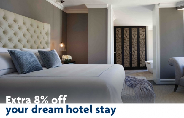 Extra 8% Off your Dream Accommodation with Hotels.com and UOB Card