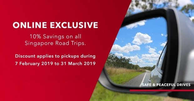 Online Exclusive: 10% Savings on all Singapore Road Trips with Avis