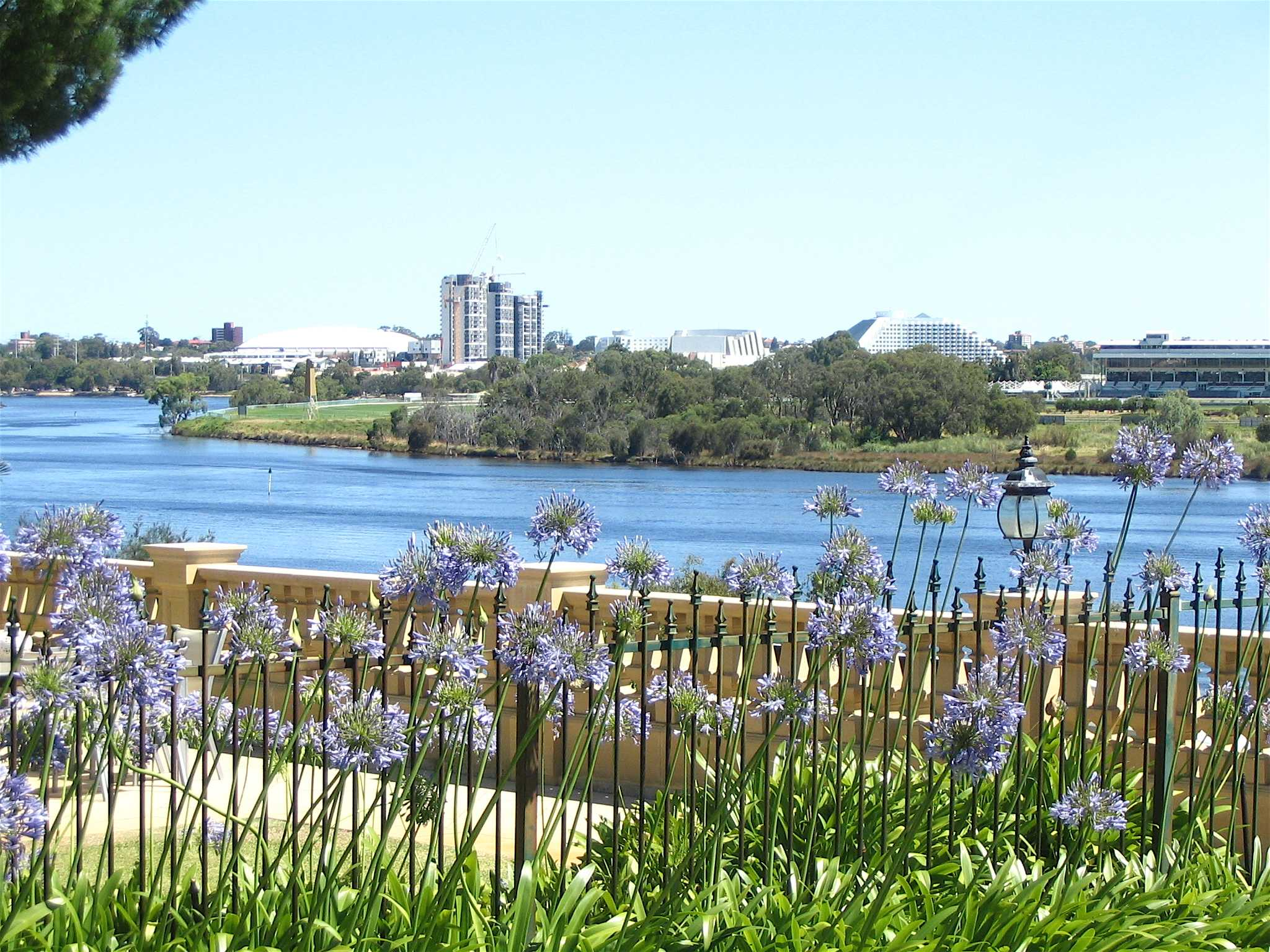The beautiful view of Burswood