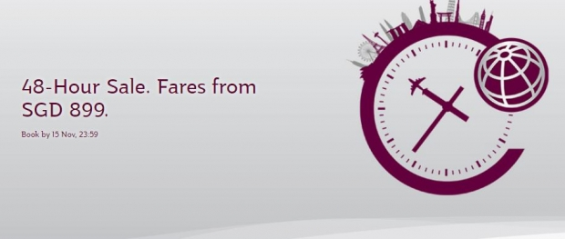 48 Hours Exclusive Offer in Qatar Airways with Flights from SGD881
