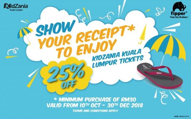 Get 25% Off Admission Pass to KidZania Kuala Lumpur with Flipper