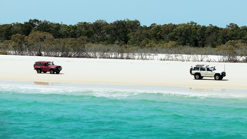 jeeps on australian beach