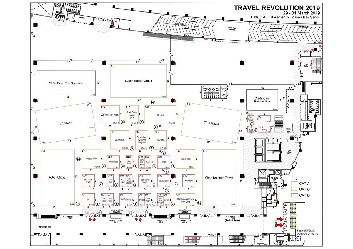 Travel Revolution Fair March 2019 Floor Plan