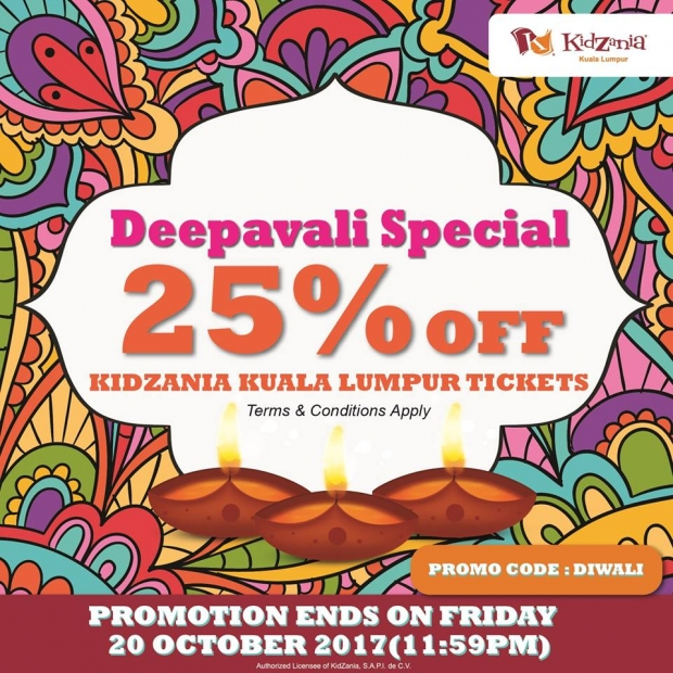 Deepavali Special Offer in KidZania Kuala Lumpur at 25% Savings