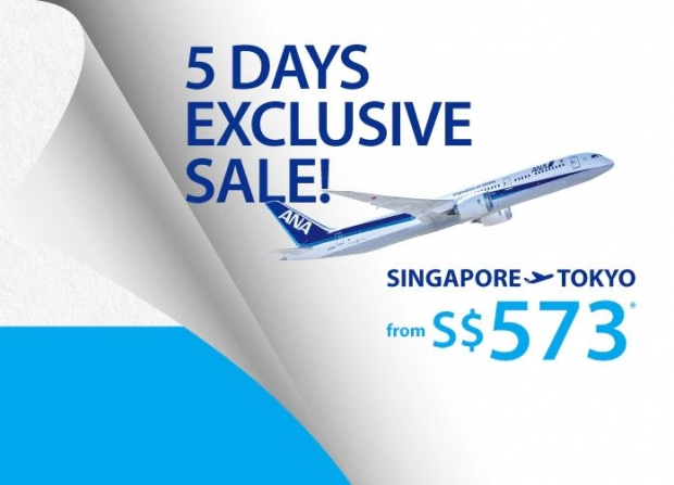 5 Day Sale - Fly to Japan with All Nippon Airways from SGD573