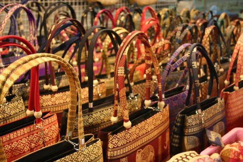 handmade items sold at chiang rai night bazaar