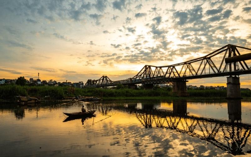 Hanoi Red River Bridge