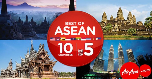 Discover the Best of ASEAN from SGD5 with AirAsia