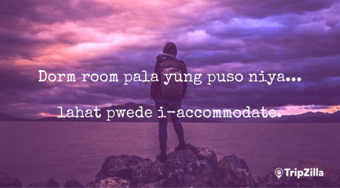 filipino backpacker hugot lines