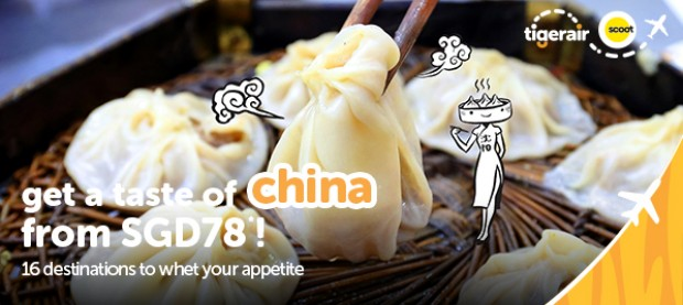 Fly to China from SGD78 with Tigerair 1