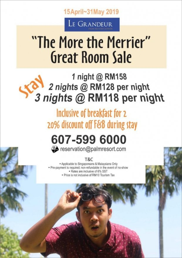 Great Room Sale at Le Grandeur Palm Resort Johor